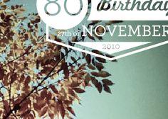 Birthday party invite design