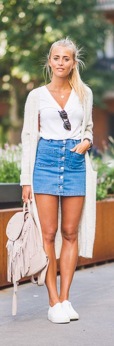 Denim Skirt / Fashion By Janni Dieler