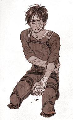 Eren Jaeger - Attack on Titan - Shingeki no Kyojin Eren X Mikasa, Armin, 5 Anime, Anime Guys, Anime Nerd, Cosplay Meme, Anime Cosplay, Poses Anime, Titan Shifter