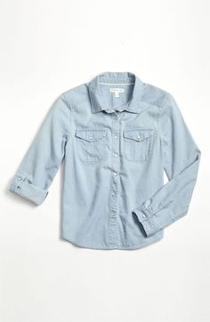Yay! the denim shirt arrived!! so excited!Tucker + Tate 'Angie' Chambray Shirt (Big Girls) available at #Nordstrom
