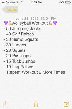 Best volleyball workout ever!
