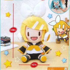 SEGA - Vocaloid Hatsune Miku - Kagamine Rin Jumbo Big Plush (Girl). Safety Warning: This Product may be intended for Adult Collectors. It may contain sharp points, small parts that are choking hazards, and other elements that are not suitable for children under 14 years of age. | eBay!