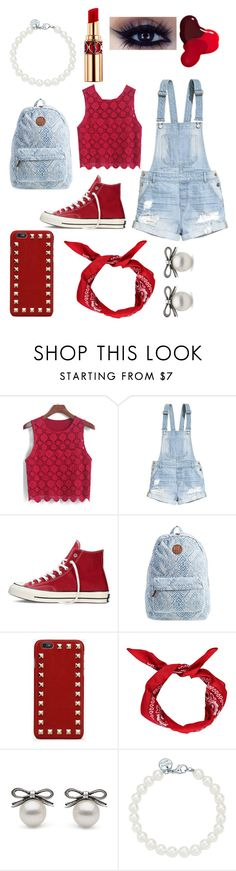 """""""red"""" by nosaj14 ❤ liked on Polyvore featuring H&M, Converse, Billabong, Valentino, Boohoo, Tiffany & Co., Yves Saint Laurent and JINsoon"""