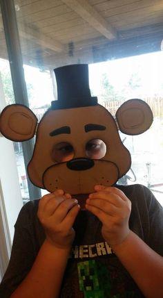 Five 5 nights at freddy s freddy fazbear mask by conniehertzcraftz