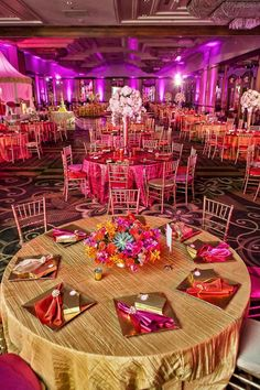 Orange and Pink Set Up- beautiful stage decor idea for a sangeet ...