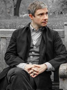 John Watson in Sherlock Holmes Bbc, Sherlock John, Sherlock Season, Watson Sherlock, Martin Freeman, John Watson Bbc, Dr Watson, Amanda Abbington, Benedict And Martin
