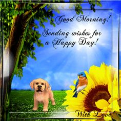Wish anyone a happy day with your love! Free online Wishes For A Happy Day ecards on Everyday Cards Monday Morning Images, Monday Morning Greetings, Happy Monday Morning, Good Morning Gif, Happy Day, 123 Greetings, Daily Thoughts, Happy Spring, Love Cards