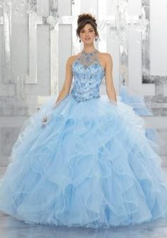 d4e12264a8c 78043 Rhinestone and Crystal Beading on a Flounced Tulle Ball Gown