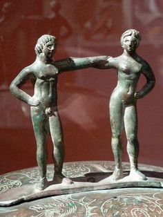 "General with his wife at an offering ceremony (Etruscan, 5th ct. BC). ""Italia Antiqua"" - Etruscan and Roman Art. Altes Museum, Berlin."
