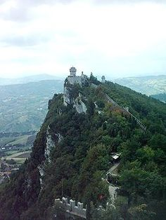De La Fretta is one of the three peaks which overlooks the city of San Marino.