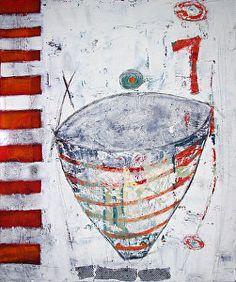 "EMPTY VESSEL- Abstract Still Life by Cristina Del Sol Oil & Cold Wax ~ 36"" x 30"""
