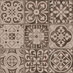 Comptoir du cerame -  carrelage imitation carreau ancien noir 33x33 cm