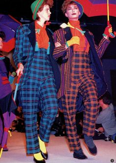 Jean Paul Gaultier Fall/Winter 1982 80s Fashion, High Fashion, Fashion Looks, Jean Paul Gaultier, Cute Clown, Clown Faces, Riot Grrrl, 80s Outfit, Power Dressing