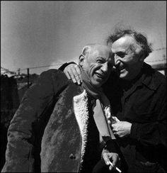 FOTO DEL GIORNO - Pablo Picasso e Marc Chagall fotografati da Philippe Halsman nel 1955...
