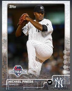 Michael Pineda New York Yankees Post Season Insert Card 2015 Topps BUNT