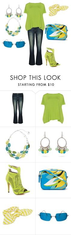 """Glowing Gal"" by jfcheney ❤ liked on Polyvore featuring City Chic, Isolde Roth, Erica Lyons, Michael Antonio, Emilio Pucci, Namrata Joshipura, Oliver Peoples and plus size clothing"
