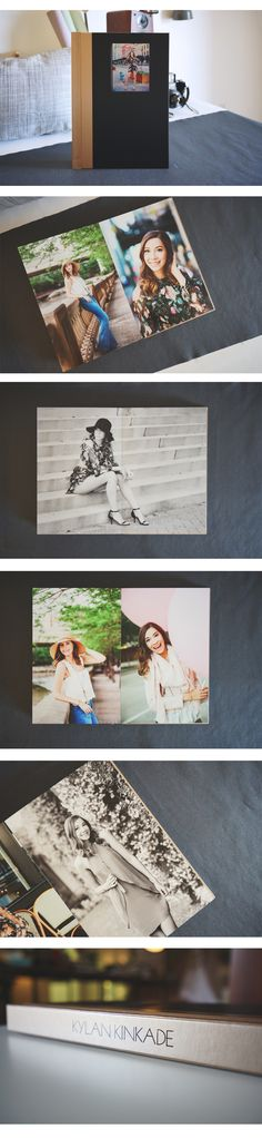 How beautiful is this 9x14 senior album that Joie Photography designed for their client! <3