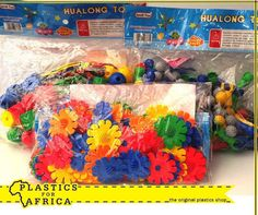 At #PlasticsforAfrica, we stock a wide range of clip together shapes and balls for hours of educational construction fun for your kids. Visit your nearest branch today. #Toys