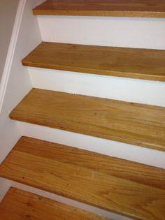 white oak stair treads   Replacing Oak Stair Tread - Flooring - DIY Chatroom - DIY Home ...