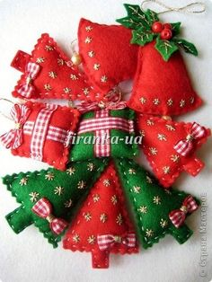 REALLY cute felt Christmas ornaments that are adorably finished----not just plain felt!!