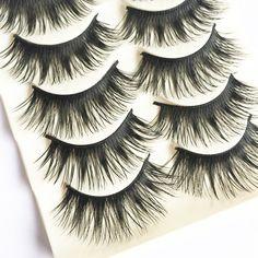 10Pairs For Eye Lashes Makeup Transparent Crisscross Cheap False Eyelashes Eyelash Extensions Fake Lashes Volume Fake Eyelashes