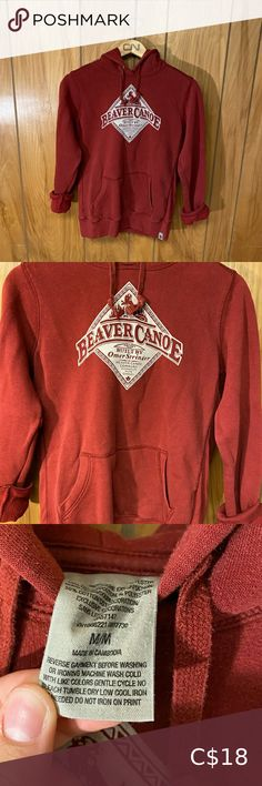 """Dark Red Beaver Canoe Sweater Super comfy! Size: M Shoulder to shoulder: 21"""" Pit to pit: 20"""" Length: 23.5"""" Sleeve length: 24.5"""" Beaver Canoe Sweaters Red Turtleneck, Mohair Sweater, Zip Up Sweater, Grey Sweater, Beaver Canoe, C 18, Yellow Cardigan, Blue Zip Ups"""