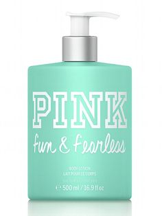 PINK NEW! Fun & Fearless Body Lotion #VictoriasSecret http://www.victoriassecret.com/beauty/lotions-and-creams/fun-fearless-body-lotion-pink?ProductID=99152=OLS?cm_mmc=pinterest-_-product-_-x-_-x