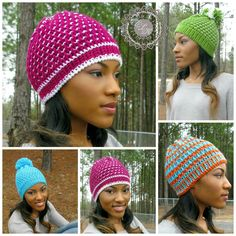 Free Crochet Pattern Link Blast: Post Stitch Hats | WIPs 'N Chains