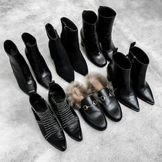 Every fashion girl's dream shoes <3 boots Anine Bing, Gucci loafers, heels shoes, winter spring trend it-shoes