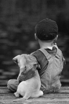 A boy and his dog… °