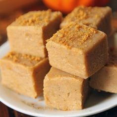 No-Bake White Chocolate Pumpkin Fudge | Texanerin Baking