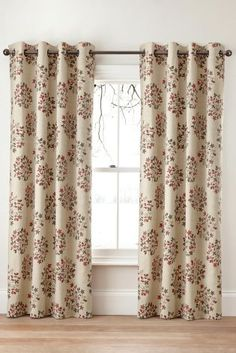 Buy Red Scattered Sprig Print Eyelet Curtains From The Next UK Online Shop