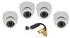 DVR Full System 4 Channel Security System USB2 With 4 HD CCTV Dome Camera 1/4 Cmos 700TVL 24LED Night vision price, review and buy in Egypt, Amman, Zarqa | Souq.com