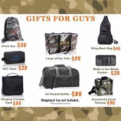Thirty-One gift ideas for Men It's not just for the girls! www.mythirtyone.com/AdanariGomez