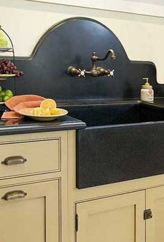 farmhouse soapstone sink