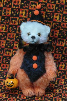 SOLD Tricky a Halloween Miniature Bear by LouisePeers on Etsy