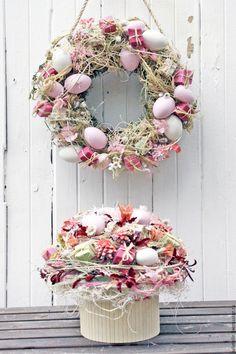 Купить Пасхальный розовый венок - розовый, Пасха, пасхальный венок, пасхальный декор, украшение стола