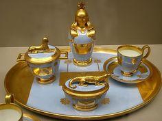 Egyptian Revival porcelain Tête-à-tête – Austria – Vienna – 1794-1809