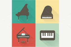 Check out Vector Piano icons by vectorprro on Creative Market