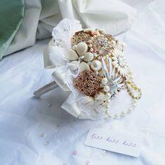 Spilla bouquet mazzo bouquet perla delle di BespokeVintageCastle