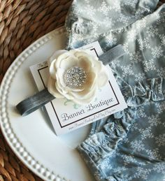 Luxuriously Soft Silvery/Grey Flower - Choose your Center-Vintage, Raw Silk, French Tulle, Lace, Baby Headband, Christening Headband, Baptism Headband, Flower Headband, Flower Clip, Chiffon Fabric Flower