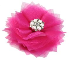 layered organza flower, would also look good with multiple colors layered together