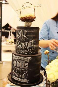 The Hottest 2015 Wedding Trend: 30 Chalkboard Wedding Cakes Weddingomania | Weddingomania
