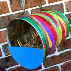 RECYCLED TIN BIRDFEEDER
