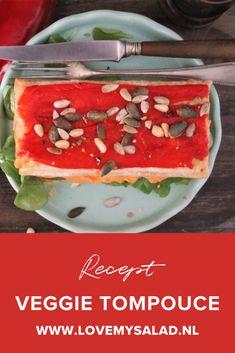 Geen oranje tompouce of mini tompouce, maar met dit recept kun je zelf een hartige (vegan) tompouce maken! Het is een bijgerecht kerst recept. Dit is een recept met zoete puntpaprika! Palermo, Tacos, Mexican, Pudding, Mini, Ethnic Recipes, Desserts, Salad, Tailgate Desserts
