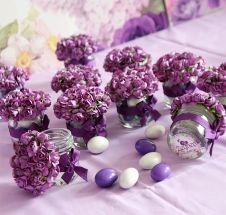 Miss Hediyelik Çiçek Kapaklı Mini Kavanozda Badem Şekerleri