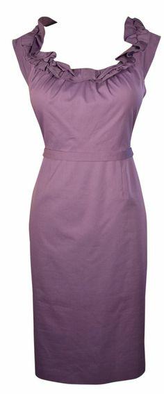 d3c417afcfb Elie Tahari Dress Lilac Purple Belted Ruffled Roxanna Dress Size 10 Retail   348  ElieTahari