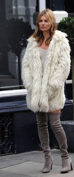 kate moss / fur & boots