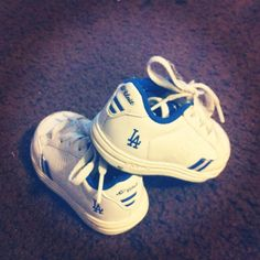 My sons baby dodger shoes!