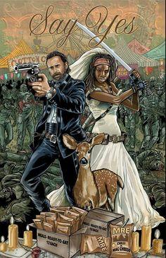 Richonne - Fan Art - The Walking Dead Memes Walking Dead, Walking Dead Comics, Walking Dead Tv Series, Fear The Walking Dead, Rick Grimes, Rick Y Michonne, Norman Reedus, Arte Zombie, Dead Zombie